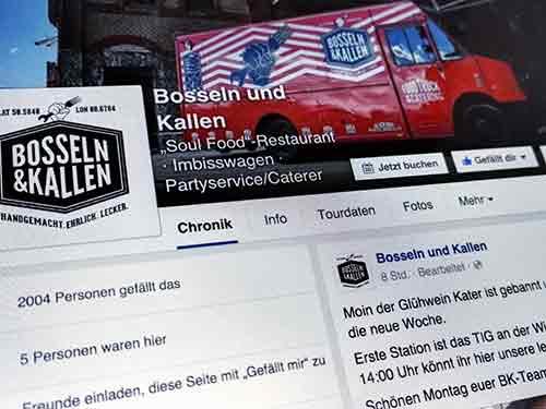 Foodtruck Bosseln & Kallen in Facebook